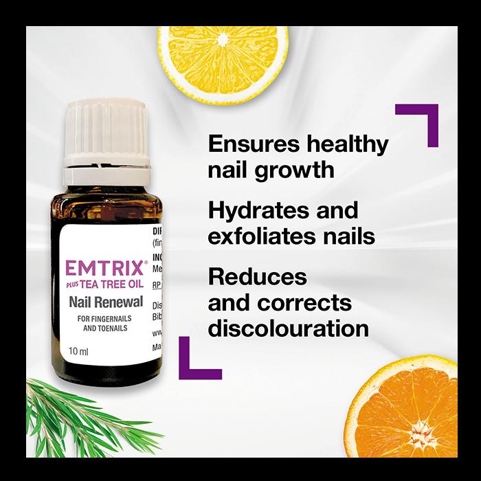 Emtrix Nail Renewal Plus Tea Tree Oil, 10ml.